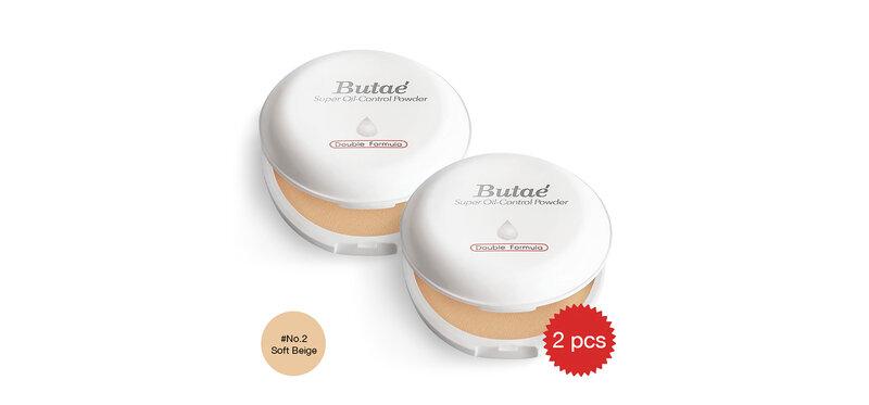 [แพ็คคู่] Butae Super Oil-Control Powder Double Formula #2 Soft Beige [14g x 2pcs]