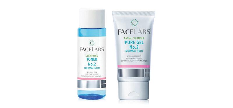 Facelabs Set 2 Items Facial Cleanser Pure Gel No.2 50ml + Clarifying Toner No.2 100ml ( สินค้าหมดอายุ : 2022.07 )