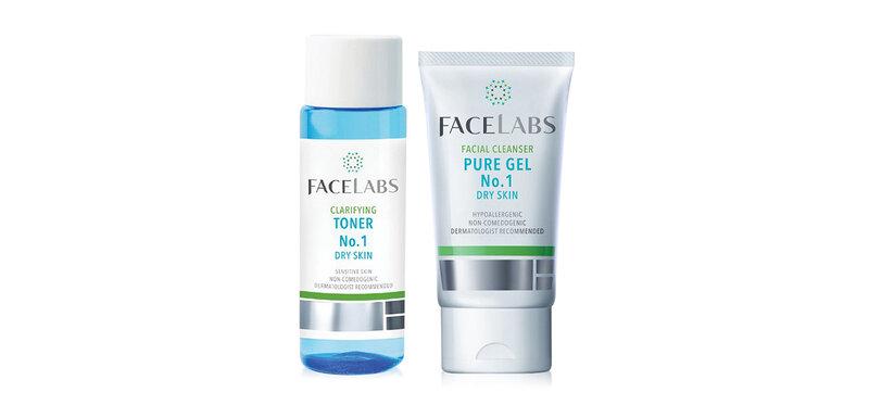 Facelabs Set 2 Items Facial Cleanser Pure Gel No.1 50ml + Clarifying Toner No.1 100ml ( สินค้าหมดอายุ : 2022.03 )
