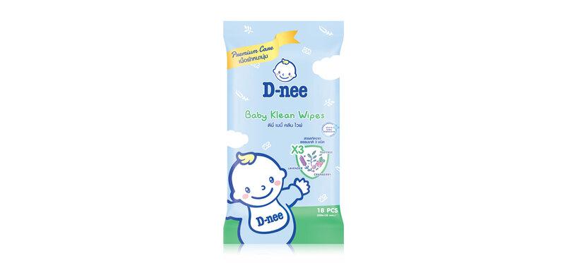 D-nee Baby Klean Wipe 18 Sheets