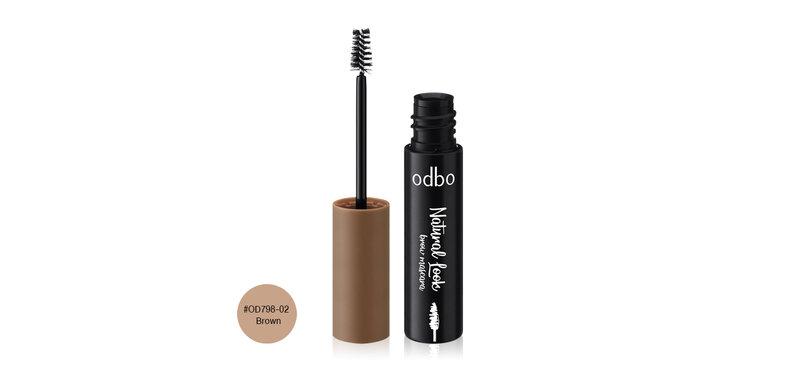 ODBO Natural Look Brow Mascara 3.5g #OD798-02 Brown