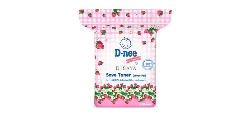 D-nee Beauty Cotton Pad Save Toner 200 Sheets