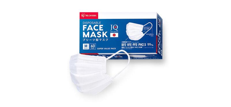 IRIS OHYAMA Disposable Face Mask Size M [60pcs]