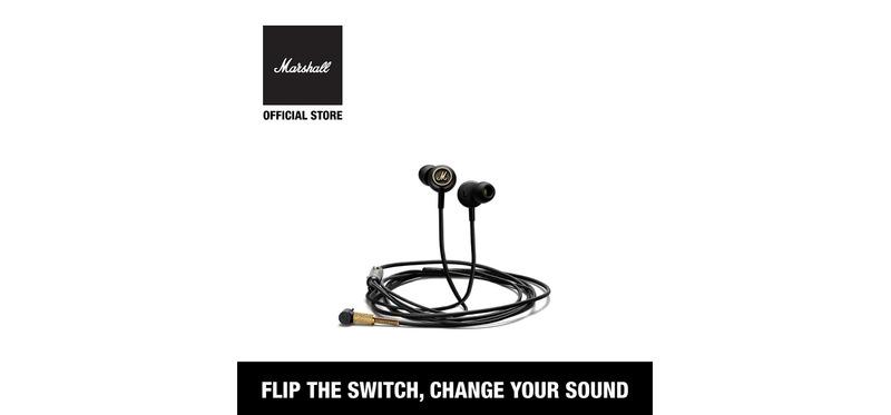 [ ศูนย์ไทย พร้อมส่ง ] หูฟัง Marshall Mode EQ In-Ear Headphone Black