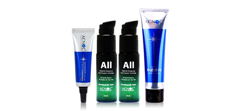 Acnoc Set All Hybrid Essence [10ml x 2pcs] + Wash Cleanser 100g + Spot Gel 5g ( สินค้าหมดอายุ : 2022.05 )