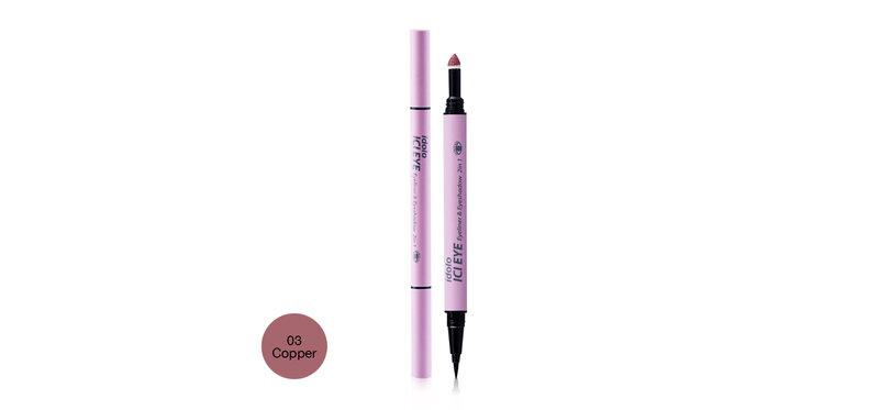 IDOLO ICI Eye Eyeliner & Eyeshadow 2 In 1 #03 Copper