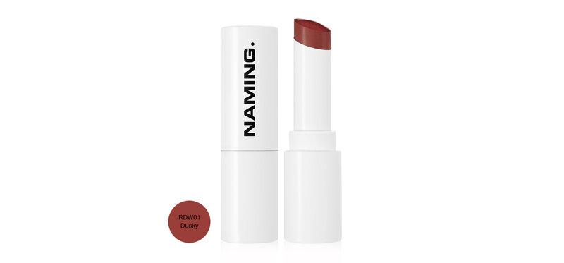 NAMING Melting Glow Lipstick 4.5g #RDW01 Dusky