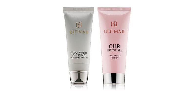 ULTIMA II Set 2 Items CHR Essentials Refreshing Scrub 100g + Bright Clarifying Mask 100g