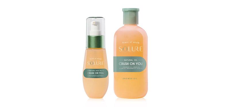 SOLURE Set 2 Items Crush On You Shower Oil 285ml + Body Oil 65ml