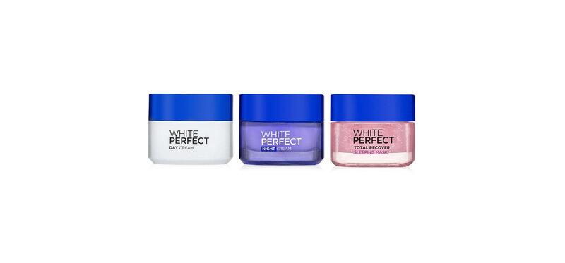 L'Oréal Paris Set 3 Items White Perfect Day Cream 50ml + Night Cream 50ml + Sleeping Mask 50ml