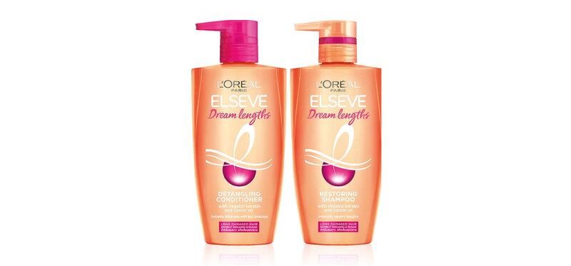 L'Oréal Paris Set 2 Items Elseve Dream Lengths Restoring Shampoo 450ml + Conditioner 450ml