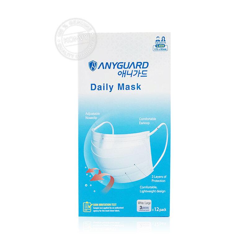 ANYGUARD Daily Mask Large White [3pcs]