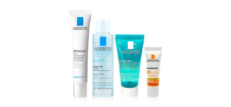 [ซื้อ1แถม3] La Roche Posay Effaclar K+ 40ml [Free! Sensitive Micellar 50ml+Purifying Duo Clean 15ml+Anthelios Fluid 3ml]