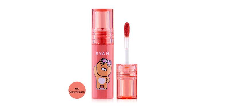 Cathy Doll Kakao Friends Hya Plumping Lip 2.5g #02 Glowy Peach