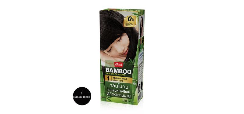 Caring Bamboo Hair Color Cream 100ml #1 Natural Black