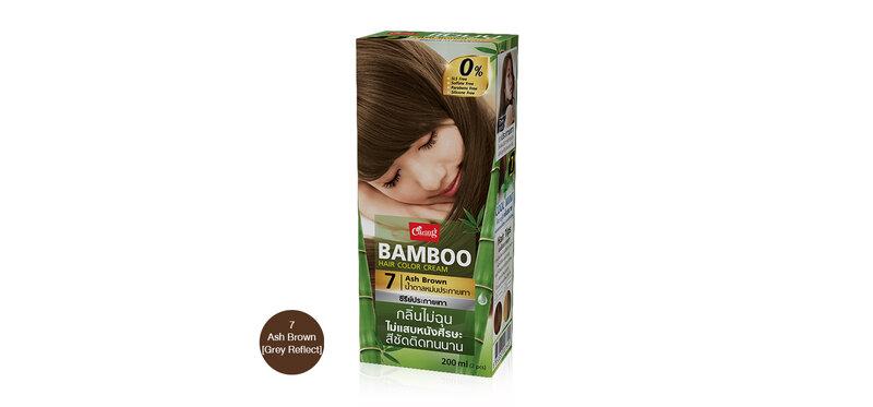 Caring Bamboo Hair Color Cream 100ml #7 Ash Brown [Grey Reflect]