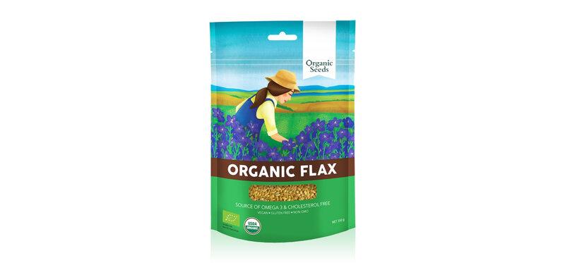 Organic Seeds Organic Ground Brown Flaxseeds 200g