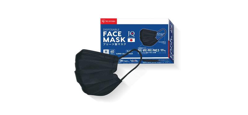 IRIS OHYAMA Disposable Face Mask Size M #Black [60pcs]