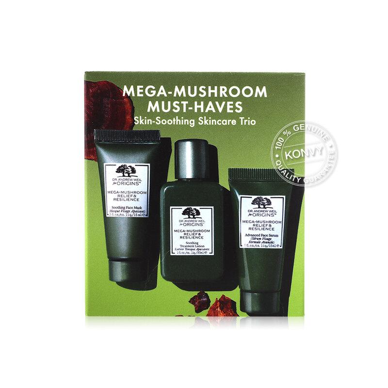 Origins Mega-Mushroom Must-Haves Skin-Soothing Skincare Trio